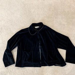 Black velvet (short) jacket